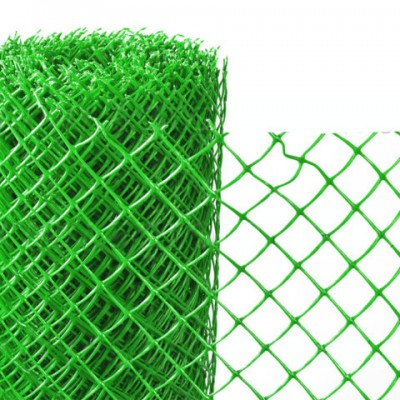Заборная решётка зелёная пластик яч. 35*35 мм (1,2*10 м) (рулон)